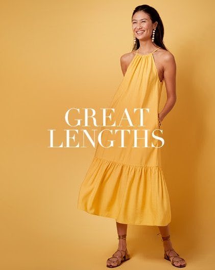 The Most Coveted Dress Styles for Spring: Midi & Maxi Dresses from Banana Republic
