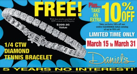 Up to 75% Off Semi-Annual Clearance Sale from Daniel's Jewelers