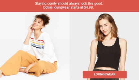 Colsie Loungwear Starting at $4.99 from Target