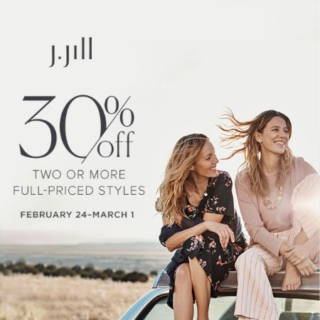 Layer Up 30% off Two or More Full-Priced Styles from J.Jill