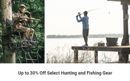 Up to 30% Off Select Hunting and Fishing Gear from Dick's Sporting Goods