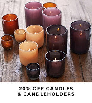 20% Off Candles & Candleholders from Pottery Barn