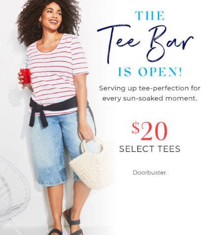 $20 Select Tees from Lane Bryant