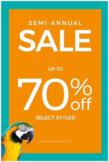 Semi Annual Sale Up to 70% off Select Styles* from Chico's