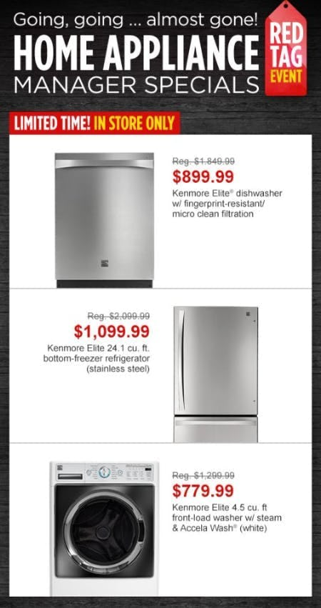 Home Appliance Manager Specials