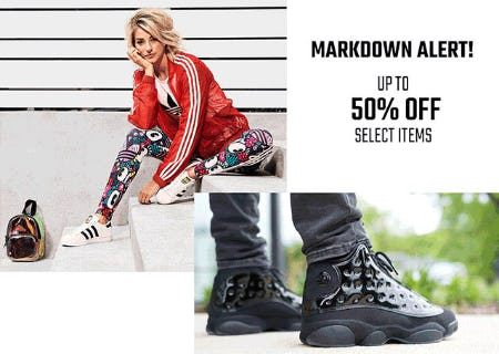Up to 50% Off Makdown Alert from Hibbett Sports