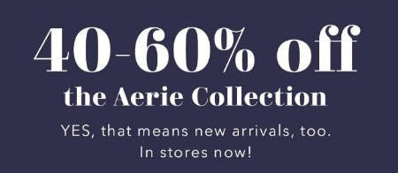 40-60% Off the Aerie Collection from Aerie