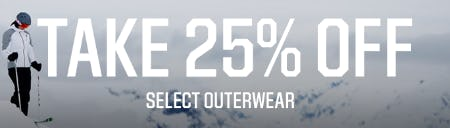 25% Off Select Outerwear