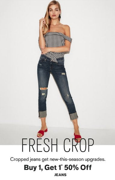 Buy 1, Get 1 50% Off Jeans from Express