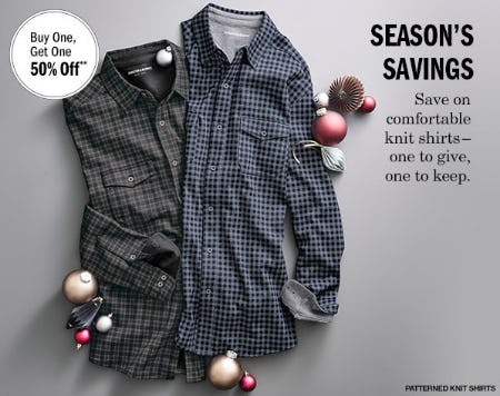 BOGO 50% Off Knit Shirts from Johnston & Murphy