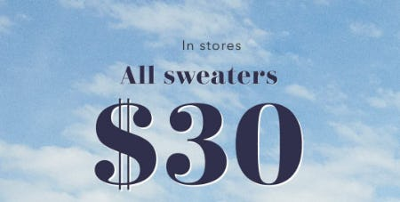 $30 All Sweaters from Aerie