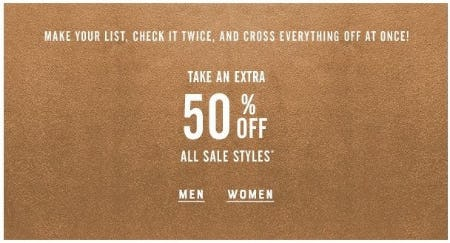Extra 50% Off All Sale Styles from Lucky Brand Jeans