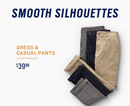 Dress and Casual Pants Starting at $39.99 from Men's Wearhouse