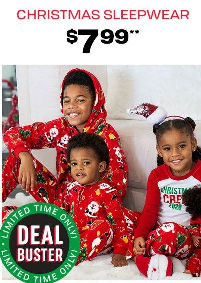 Christmas Sleepwear $7.99 from The Children's Place Gymboree