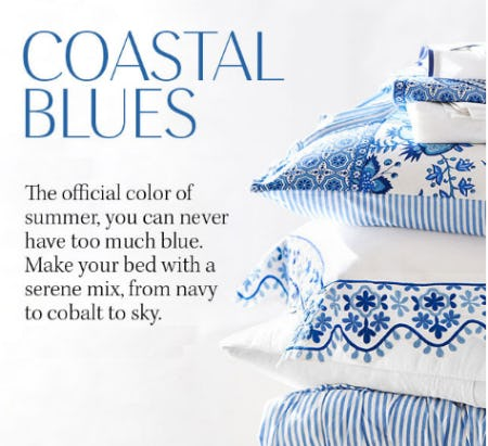 The Coastal Blues from Pottery Barn