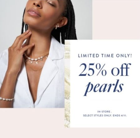 25% Off Pearls from Kendra Scott