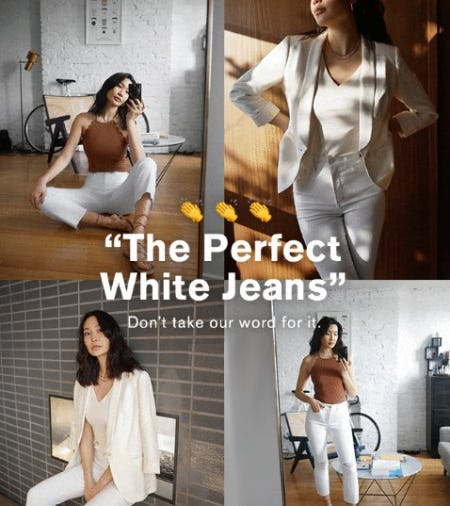 The Perfect White Jeans