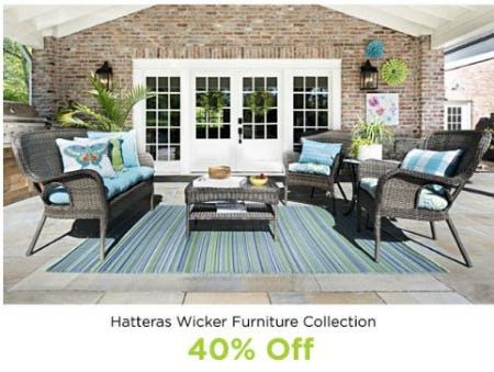 Hatteras Wicker Furniture Collection 40% Off from Kirkland's Home