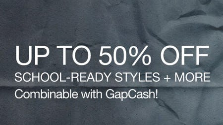 Up to 50% Off School-Ready Styles + More from Gap