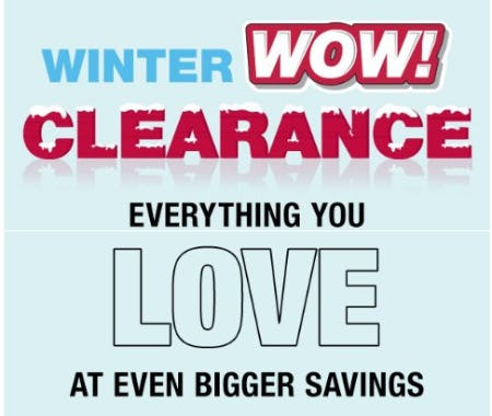 Winter Wow! Clearance Event