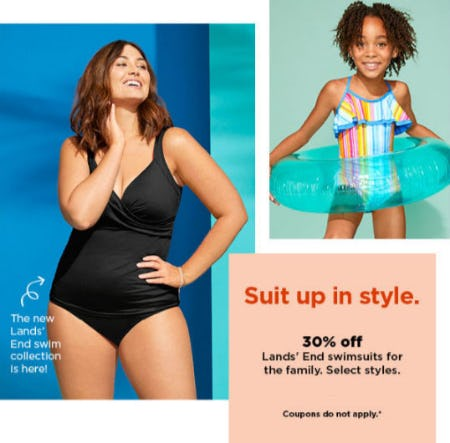 30% Off Lands' End Swimsuits for the Family
