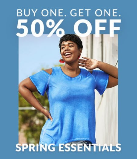 Buy One, Get One 50% Off Spring Essentials