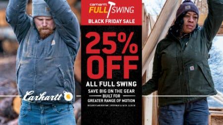 25% Off Full Swing + More Hardworking Gear