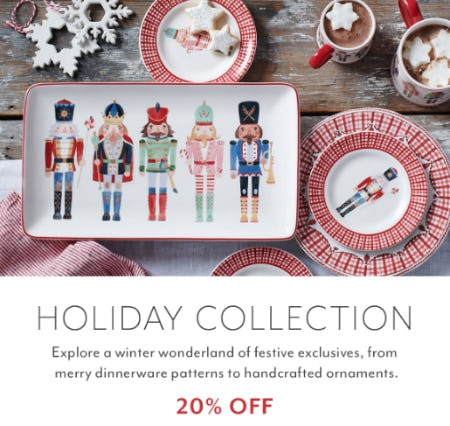 20% Off Holiday Collection from Sur La Table