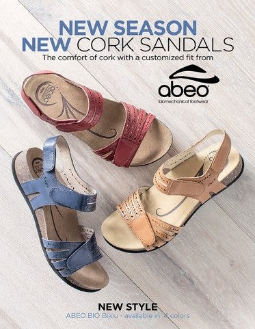New Season, NEW ABEO Cork Sandals from THE WALKING COMPANY