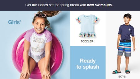 New Swimsuits for Spring from Target