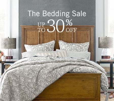 sale at pottery barnsale at pottery barn up to 30% off the bedding sale