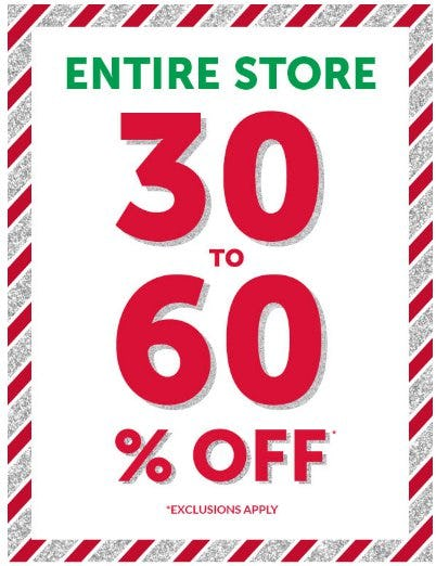 30 to 60% Off Entire Store from Children's Place