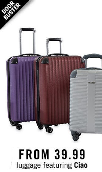 Luggage from $39.99 from Belk