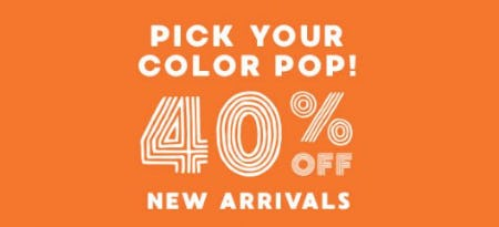 40% Off New Arrivals from Gymboree