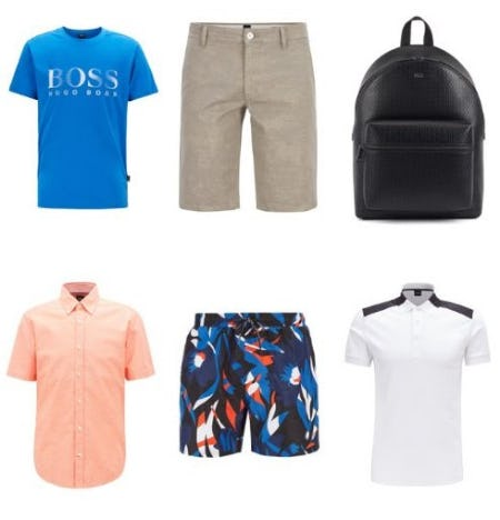Just In: New Arrivals for Summer from Boss