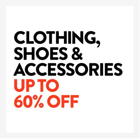 Clothing, Shoes & Accessories Up to 60% Off