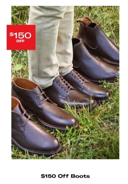 $150 Off Boots from Allen Edmonds