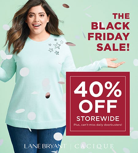 The Black Friday Sale! from Lane Bryant