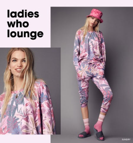 New Loungewear with a Tropical Twist from Bloomingdale's