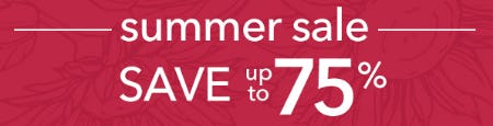 Save up to 75% Summer Sale