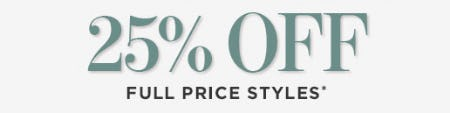 25% Off on Full Price Styles from A Pea In The Pod