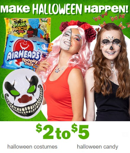 Halloween Costumes & Candy at $2 to $5 from Five Below