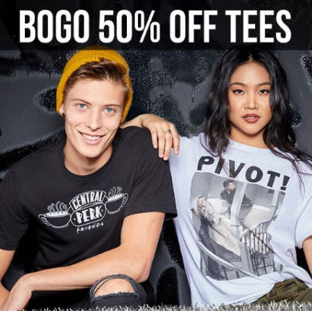 BOGO 50% Off Tees from Spencer Gifts