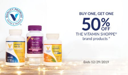 BOGO 50% Off The Vitamin Shopppe Brand Products from The Vitamin Shoppe