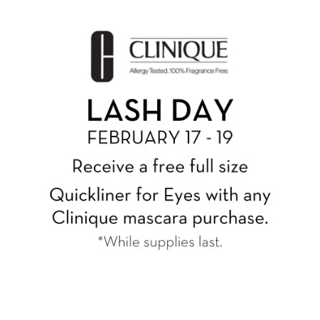 Clinique Lash Day from Von Maur