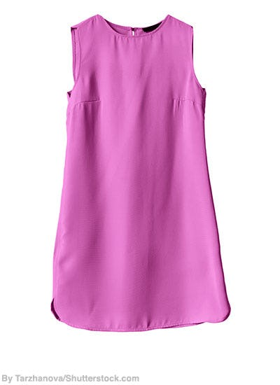 Children's pink shift dress.