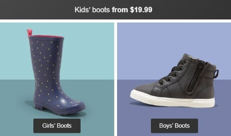 Kids' Boots from $19.99 from Target