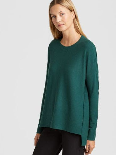 Luxe Merino Stretch Box-Top from Eileen Fisher