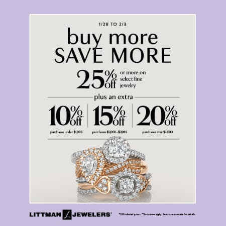 Save More Sale from Littman Jewelers