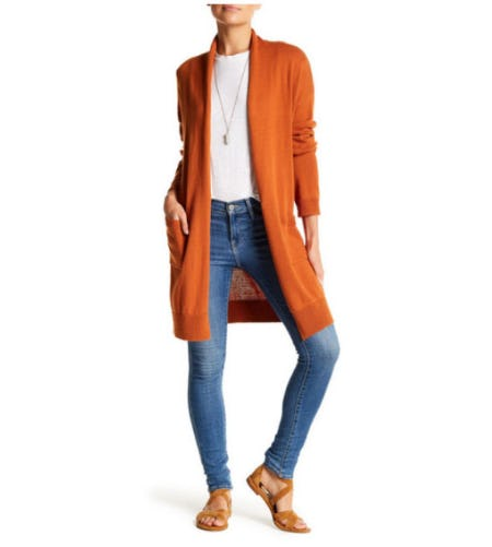Abound Open Front Long Cardigan